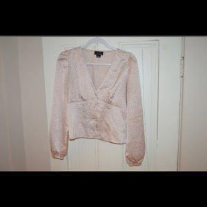 Silky champagne blouse